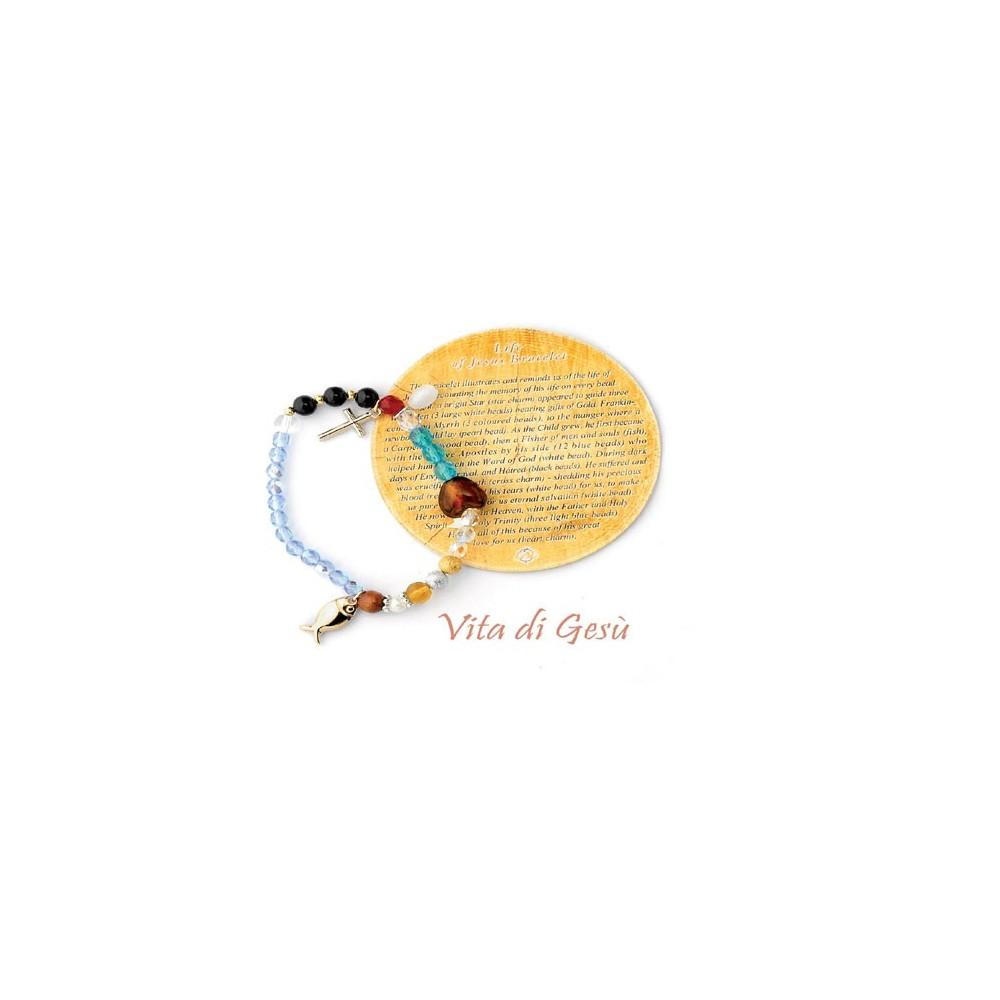 Jesus crystal elastic bracelet