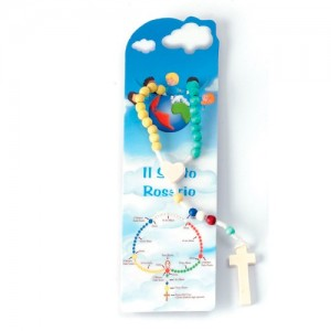 Missionary bound rosary with bookmark and envelope