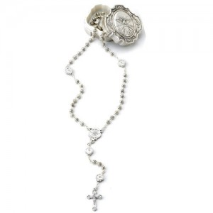 Rosary in oxidized metal - pater Holy Spirit with box
