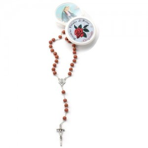 Rosary of original rose petal with box