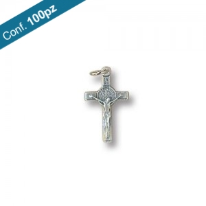 Saint Benedict Cross metal in packs of 100 pieces