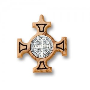 Cross of San Benedetto in olive wood