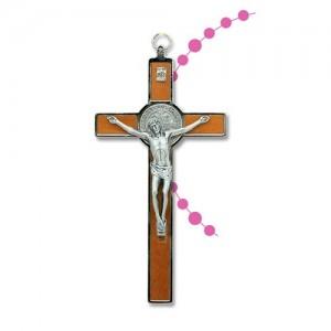 Croce di Benedetto in legno e metallo