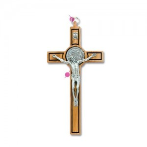 Saint Benedict cross in olive wood