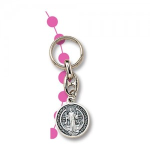 San Benedetto small metal keyring