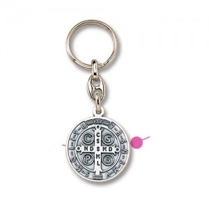 San Benedetto large metal keyring