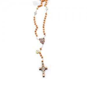 Rosary chained in olive with San Benedetto metal pater
