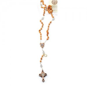 Rosary chained in olive oval pater San Benedetto metal