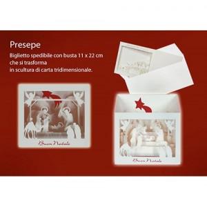 Biglietto Spedibile con busta Natale