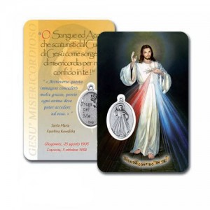 Card con Gesù Misericordioso