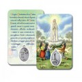 Card with Madonna of Fatima