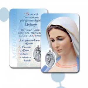 Card with Madonna of Medugorje