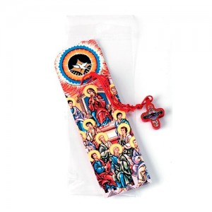 Wooden cross Confirm Pentecost with bookmark