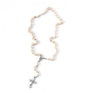 Rosary imitation pearl with hand binding