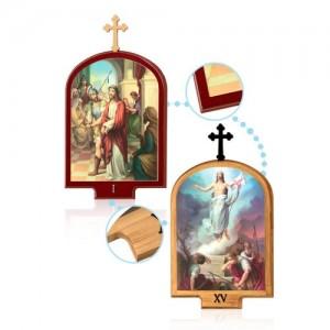 Serie Via Crucis 15 stazioni MDF