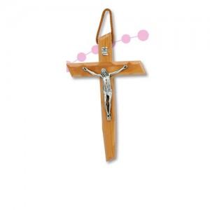 Croce in legno d'Olivo lavorata e Cristo