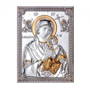 Icona in legno e argento Madonna Primo Soccorso