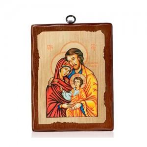 Icona su tela in legno serigrafata tinta noce