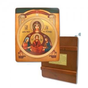 Icona del matrimonio su legno