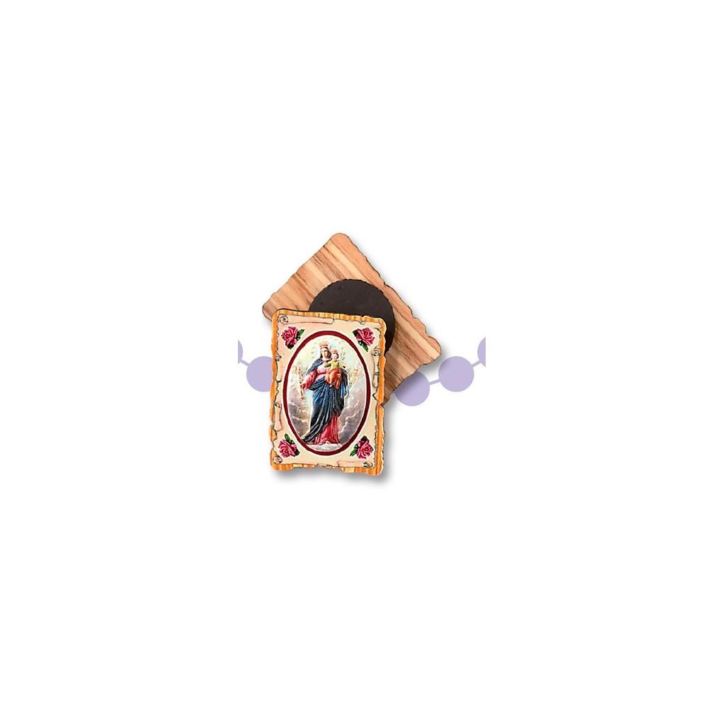 Calamita ulivo pergamena colorata con placca metallo colorato