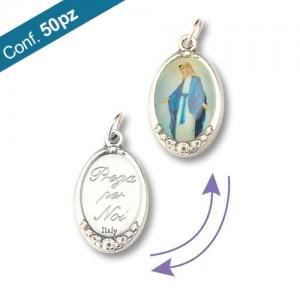 Medaglia ovale in metallo con 1 immagine
