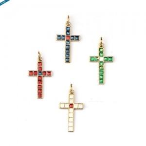 Croce metallo con smalto