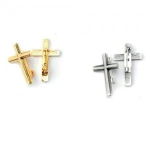 Croce clergy metallo spilla