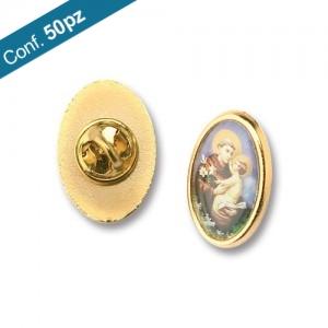 Spilla distintivo metallo dorato