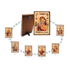 Tavola legno Icona stampa con oro