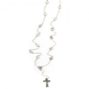 Rosario Via Crucis in cristallo e metallo