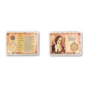Bustina tascabile in carta plastificata con medaglia