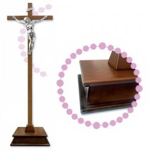 Croce in Legno tinto con base