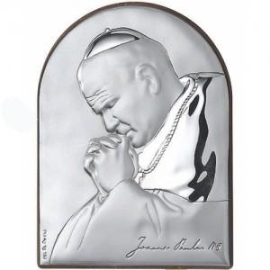 Quadretto in Argento Giovanni Paolo II