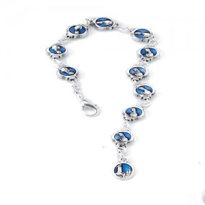 Fatima bracelet in enamelled metal
