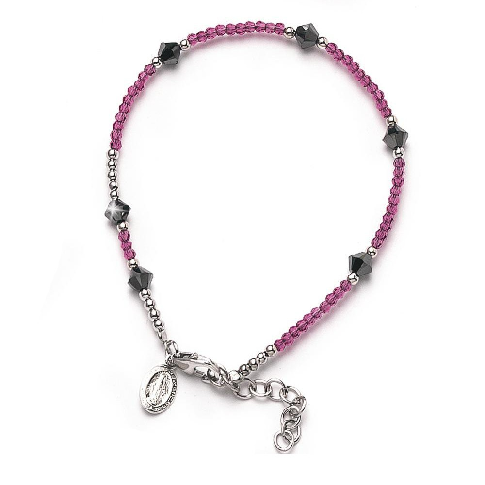 Bracciale a rosario in Swarovski 6b6cd44dc27