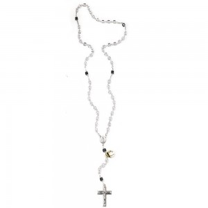 Rosary in silver and Swarovski crystal 4 mm