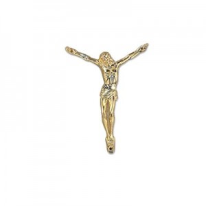 Cristo medio in metallo oro