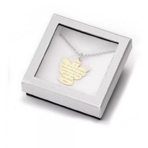 Medaglia Angelo di Dio in argento dorato