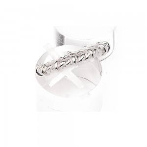 Twisted finger ring in silver