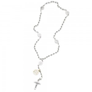 Rosary of St. Benedict in silver with silver binding