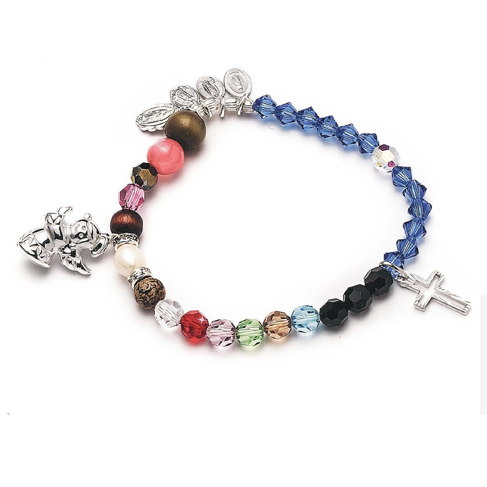 Mary elastic bracelet with Swarovski crystal beads