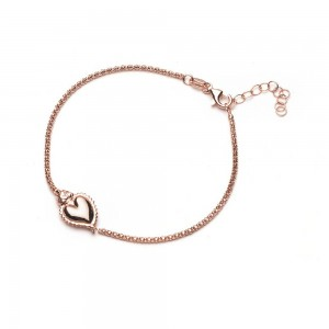 Silver bracelet with a Votive Heart