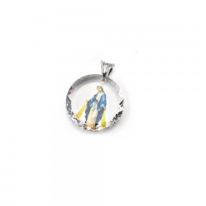 Medaglia in cristallo Swarovski con anello in argento