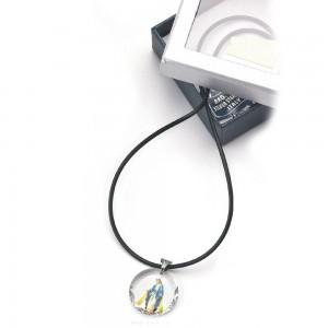 Medaglia in cristallo Swarovski con anello e caucciù