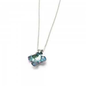 Cross in Swarovski 18 mm crystal with chain