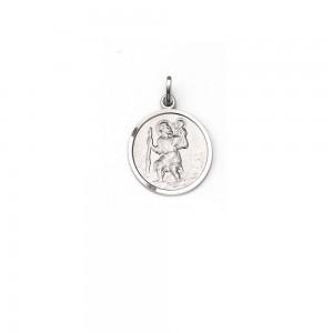 Medaglia San Cristoforo in argento rodiato