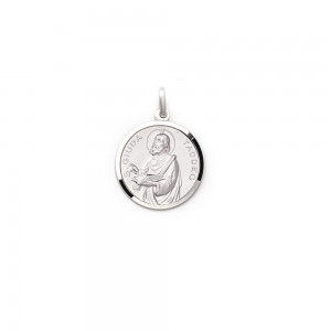 Medaglia San Giuseppe Taddeo in argento rodiato