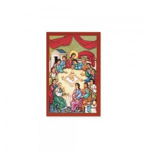 Icona in legno con stampa su tela