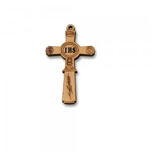 Communion olive wood cross