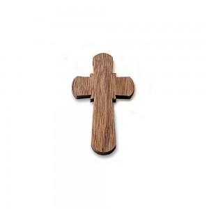 Croce legno con cordoncino